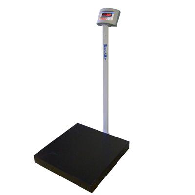 Balança Eletrônica Pesadora 300kg W300 60x60 Com Coluna